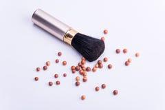 Spazzola cosmetica dell'ombra Fotografie Stock Libere da Diritti