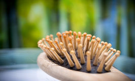 Spazzola del pettine con capelli persi Immagini Stock Libere da Diritti