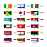 Spazzola del rullo con la bandiera Immagini Stock Libere da Diritti