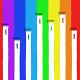 Spazzola del rullo dell'arcobaleno Fotografia Stock Libera da Diritti