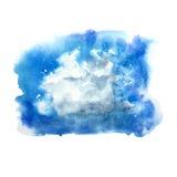 Spazzola della macchia del cumulo isolata acquerello Fotografia Stock Libera da Diritti