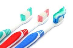 Spazzola dentale con dentifricio in pasta fotografia stock