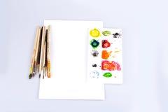 Spazzola di colore Fotografie Stock