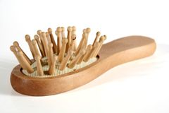 Spazzola di legno Immagini Stock