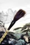 Spazzola di pittura cinese Fotografia Stock Libera da Diritti
