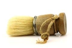 Spazzola di rasatura del barbiere dell'annata fotografie stock libere da diritti