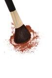 Spazzola e colori di trucco Fotografia Stock Libera da Diritti