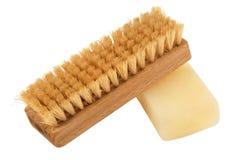 Spazzola e sapone Immagine Stock