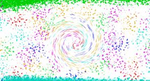 Spazzola e spirale di aspirazione dell'imbuto illustrazione di stock