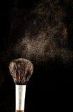 Spazzola e una polvere sparsa fuori Fotografia Stock