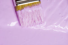 Spazzola e vernice Fotografia Stock Libera da Diritti