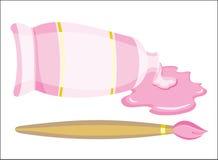 Spazzola e vernice (vettore) Immagini Stock Libere da Diritti