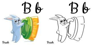 spazzola Lettera B, pagina di coloritura di alfabeto di vettore Royalty Illustrazione gratis