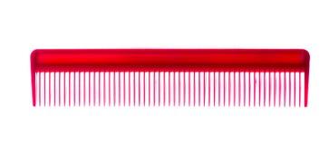 Spazzola per i capelli verde isolata su fondo bianco Fotografia Stock Libera da Diritti