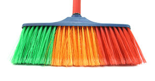 Spazzola per la casa di pulizia Fotografia Stock