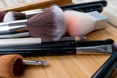Spazzola per Make up ed i cosmetici Fotografie Stock