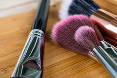 Spazzola per Make up ed i cosmetici Fotografia Stock Libera da Diritti