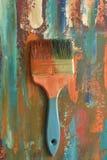 Spazzola su un fondo astratto colorato Immagini Stock Libere da Diritti