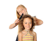 Spazzolatura dei capelli Fotografia Stock Libera da Diritti