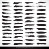 50 spazzole asciutte di lerciume di vettore Fotografia Stock Libera da Diritti