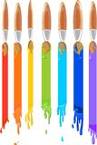 Spazzole che dipingono un arcobaleno Fotografie Stock