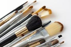 Spazzole cosmetiche Fotografia Stock Libera da Diritti