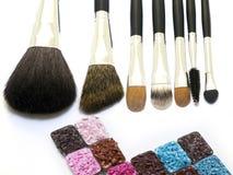 Spazzole cosmetiche Immagini Stock Libere da Diritti