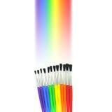 Spazzole del Rainbow Fotografia Stock Libera da Diritti