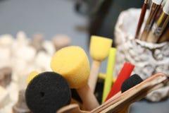 Spazzole del ` s dell'artista Art Culture Abstract Concept fotografie stock