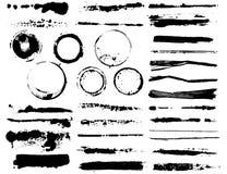 Spazzole dell'illustrazione e contrassegno del caffè Fotografia Stock Libera da Diritti