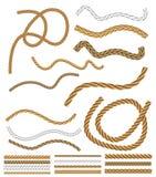 Spazzole della corda Fotografia Stock Libera da Diritti