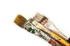 Spazzole della pittura ad olio Fotografia Stock
