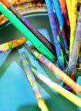 Spazzole di arte Fotografie Stock