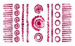 Spazzole di arte della tintura del legame Stampa nello stile di Shibori Nastro illustrazione di stock