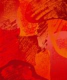 Spazzole di colore rosso della composizione Immagini Stock Libere da Diritti