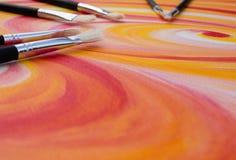 Spazzole di pittura Immagini Stock Libere da Diritti