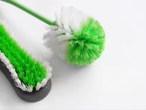 Spazzole di pulizia di sfregatura Fotografia Stock