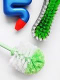 Spazzole di pulizia di sfregatura Fotografia Stock Libera da Diritti