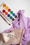 Spazzole e pitture artistiche Fotografie Stock