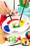 Spazzole e vernici Fotografia Stock