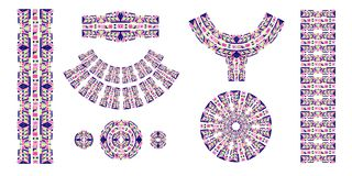 Spazzole etniche Stampa etnica africana Il modello azteco Nastro orientale del pizzo ind Immagini Stock Libere da Diritti