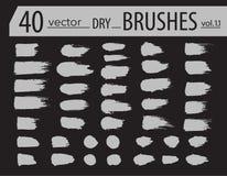 spazzole Insieme della pittura del toner Colpi artistici strutturati lerciume, progettazione di vettore Spazzole disegnate a mano Fotografia Stock