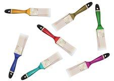 Spazzole multicolori fotografia stock libera da diritti
