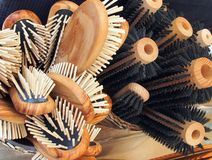 Spazzole per capelli Fotografie Stock Libere da Diritti