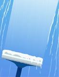 Spazzole piane dell'illustrazione per lavare le finestre Immagini Stock