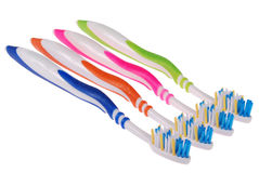 Spazzolini da denti (percorso di ritaglio) Fotografia Stock