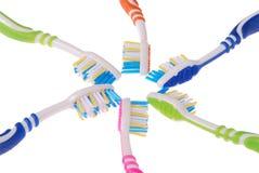 Spazzolini da denti (percorso di ritaglio) Immagine Stock