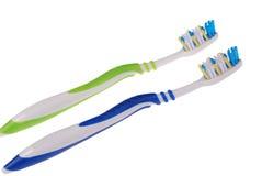Spazzolini da denti (percorso di ritaglio) Immagini Stock Libere da Diritti