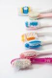 Spazzolini da denti utilizzati Colourful Fotografia Stock Libera da Diritti
