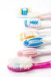 Spazzolini da denti utilizzati Colourful Fotografie Stock